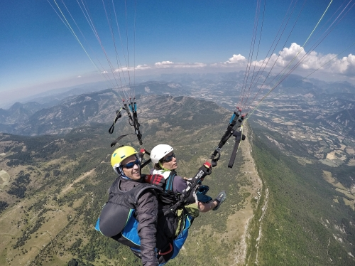 paragliding flight Diois